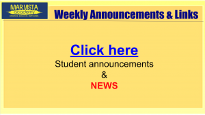 Weekly announcements and links